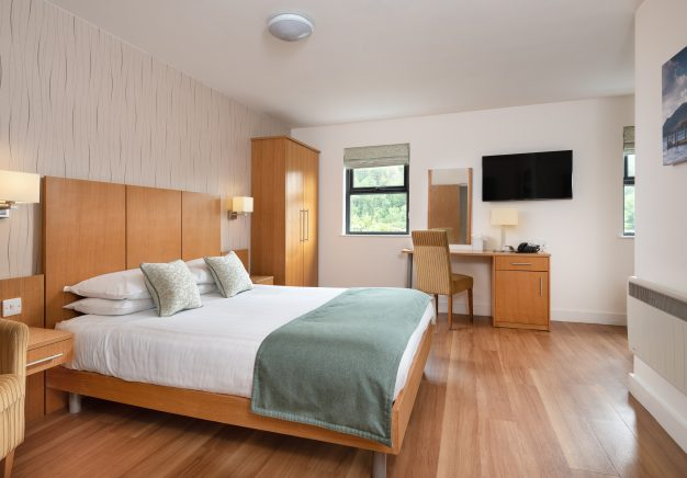 The family/twin rooms have a king size double bed and a single bed