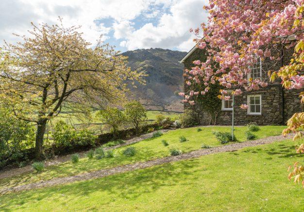 Mature garden at Bramrigg House - Grasmere.