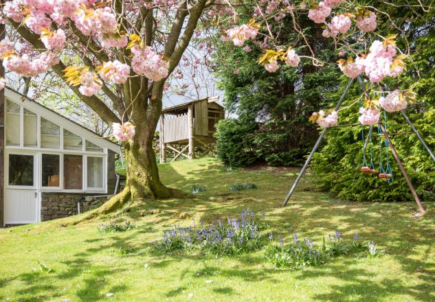 Mature, enclosed garden is perfect for guests visiting with children and pets.