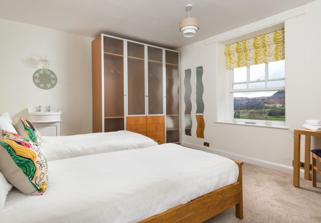 Twin room with views across Grasmere fells.