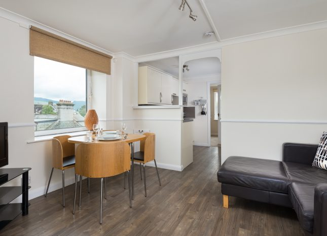 Beautifully finished Keswick self catering apartment with fell views from every window.