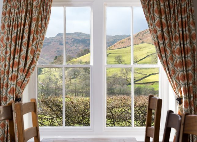 Views over Grasmere Fells from Bramrigg House.