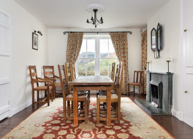 Dining room with stunning views across Grasmere Fells