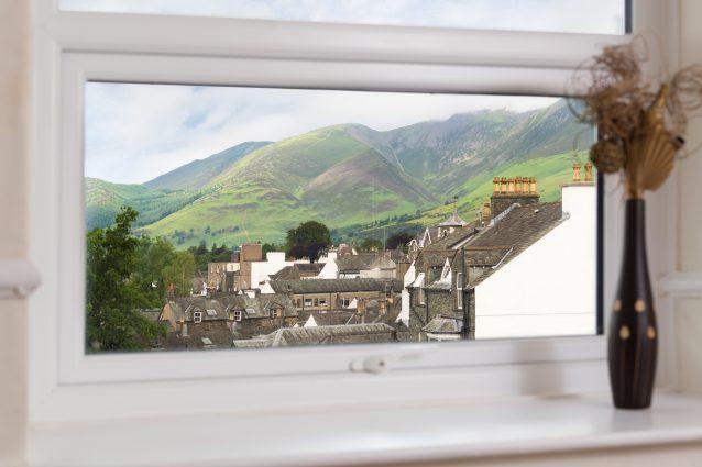 Stunning views across Keswick from the bedroom window.