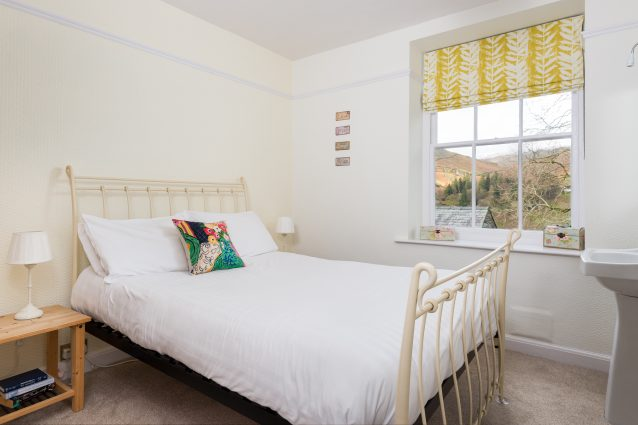 Double room with fell and garden views
