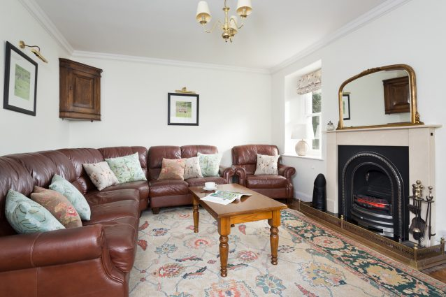 Living room with gas fire and enough space for the whole family.