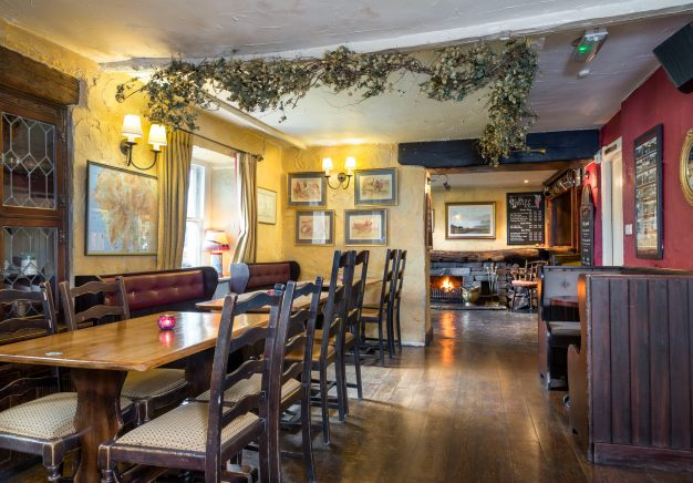 Traditional Lake District interiors in the pub area