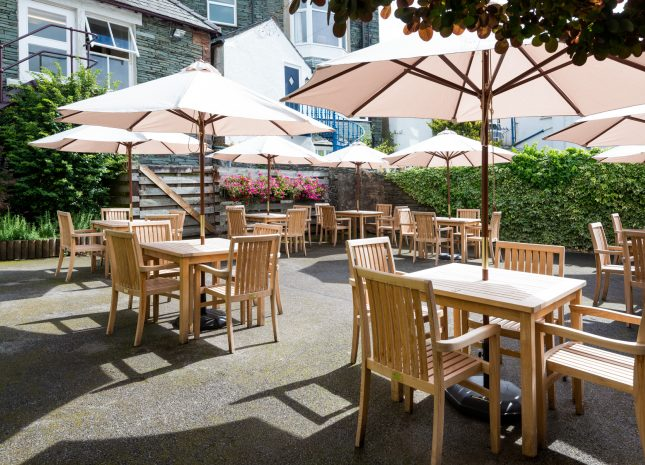 Our secluded beer garden