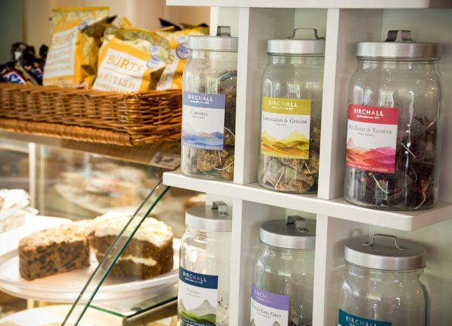 Wide selection of teas and cakes available from our cafe