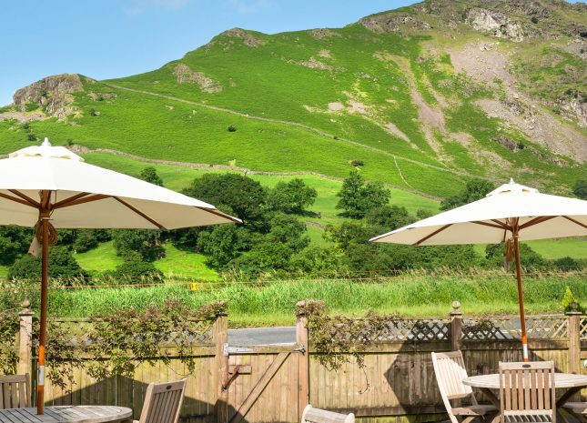 One of the outdoor seating areas with stunning views all around